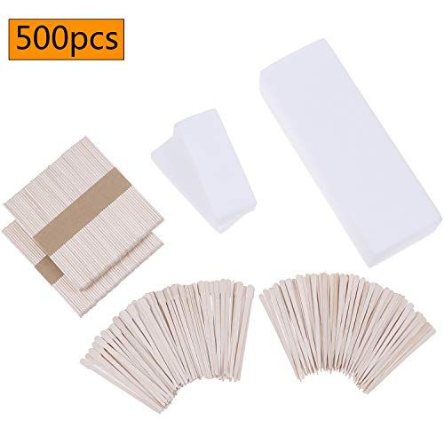 500 Pieces Wax Strips Sticks Kit Non Woven Waxing Strips Wax