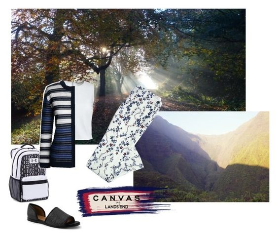 """""""#paintyourlook"""" by davensan on Polyvore featuring Lands' End, Canvas by Lands' End and Under Armour"""