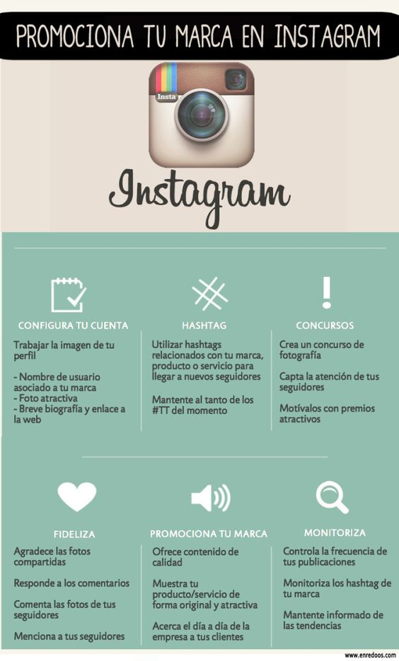 Promociona tu marca en Instagram #infografia #infographic #marketing #socialmedia