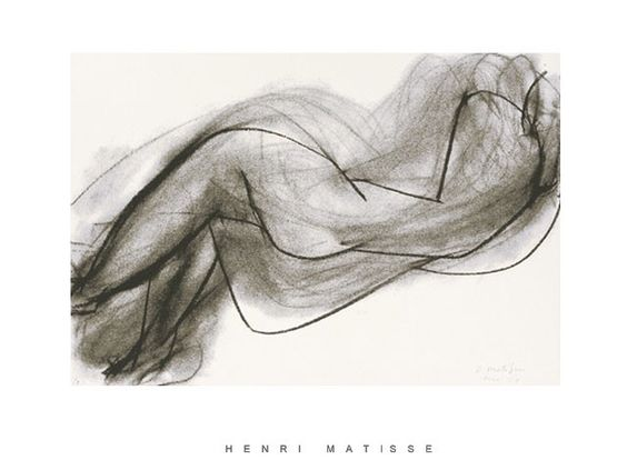 Nu+Couche+de+Dos+By+Henri+Matisse: