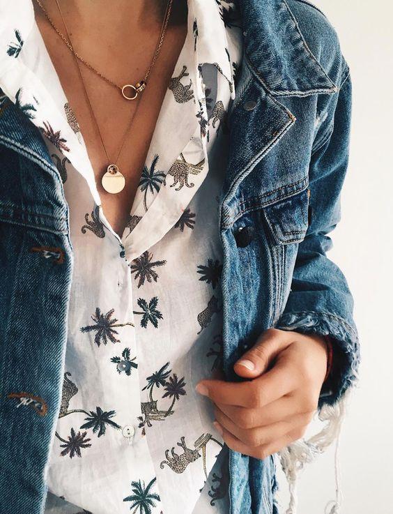 Wanted : une chemise à imprimé palmiers (chemise H&M - photo Anouk Yve)