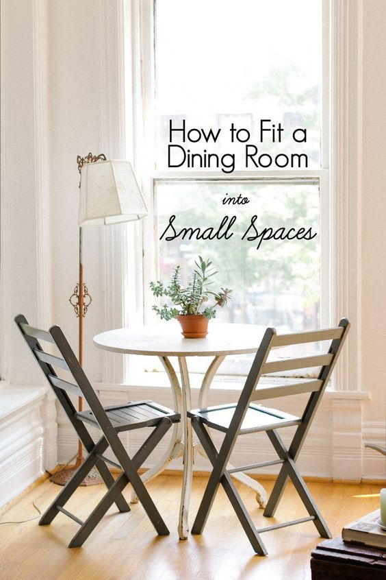 five ways to make room for a dining table even if you live in a few