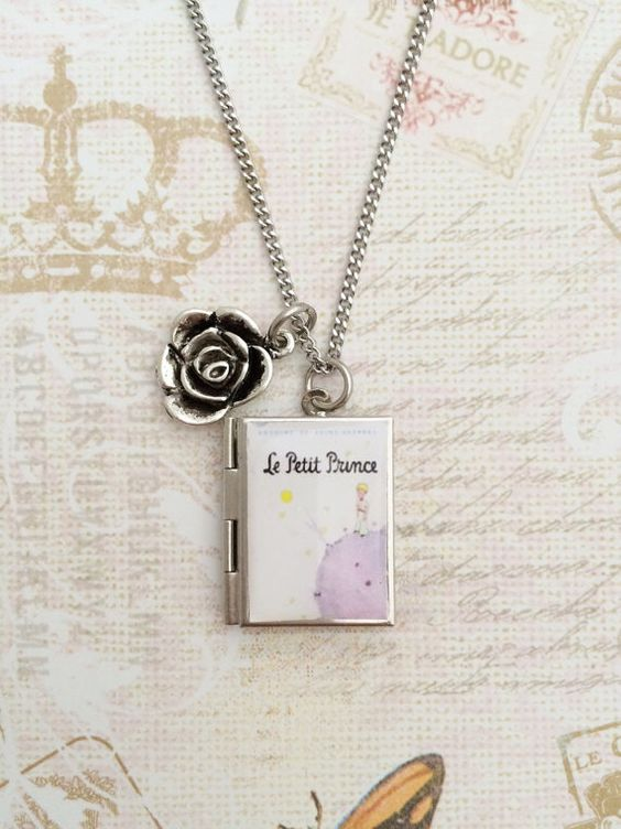 The Little Prince Miniature Book Locket Necklace by Trinketberry