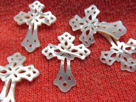 30-40mm fashion genuine  MOP shell  gergous handmade cross bottle teadrop drop assortment beads by wendyjewelrysupplies on Etsy https://www.etsy.com/listing/193268261/30-40mm-fashion-genuine-mop-shell