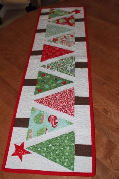 Christmas Tree Table Runner Pattern Free : christmas, table, runner, pattern, Christmas, Table, Runner, Patterns, Pattern,, Patchwork,, Quilts