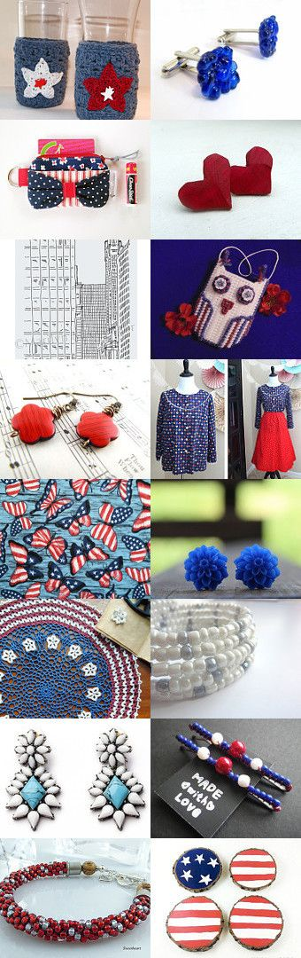 Red, White and Blue by Karina Scott on Etsy--Pinned with TreasuryPin.com