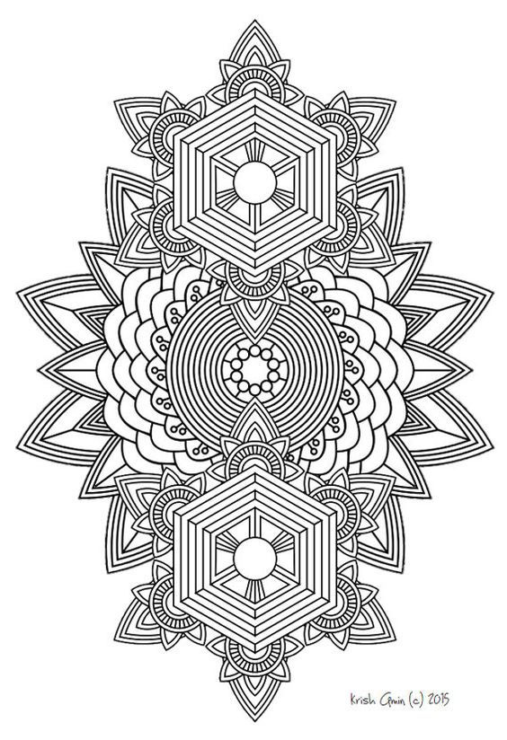 kids coloring pages intricate designs - photo#36