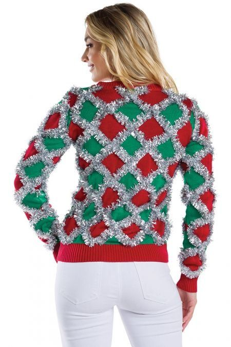 Women's Tacky Tinsel Cardigan | Christmas sweaters