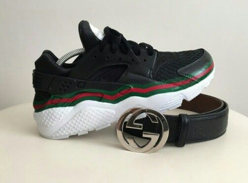 huarache gucci custom kick game pinterest gucci. Black Bedroom Furniture Sets. Home Design Ideas