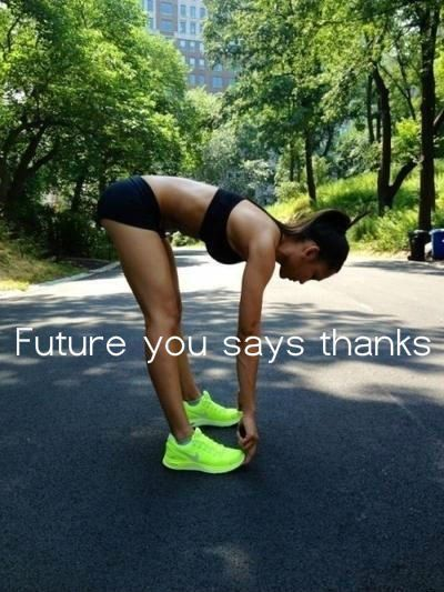 Exercise Motivation - Future YOU Says Thanks -   Seriously though two months ago I said I'd start today I just wish I followed through. it's okay though I still have plenty of time now and I've really made myself start and that's what matters :):