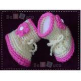 Zapatos bebe tejidos.   Botas tejidas para bebé (niña) MXP$100.00 (Cien pesos 00/100 M.N.)