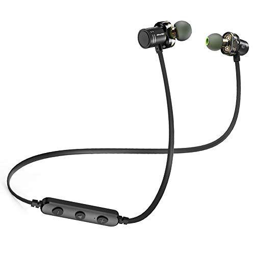 Bluetooth Headphones Awei V4 2 Best Dual Drivers Wireless Sports Earphones W Mic Waterproof Hd Stereo Sweatp Earbuds Sport Earphones Noise Cancelling Headset