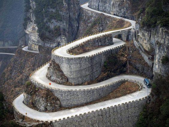 Monta as tianmen tianmen mountain se trata de la for Puerta al cielo china
