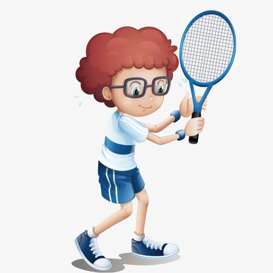 ناقلات الطفل لعب كرة الريشة الريشة المرسومة طفل الحركة الطلابية Png وملف Psd للتحميل مجانا Badminton Kids Clipart Children