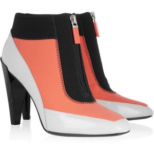 kenzo leather and neoprene ankle boots shoes oh my god