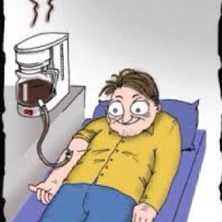 I have to much blood in my coffee stream!