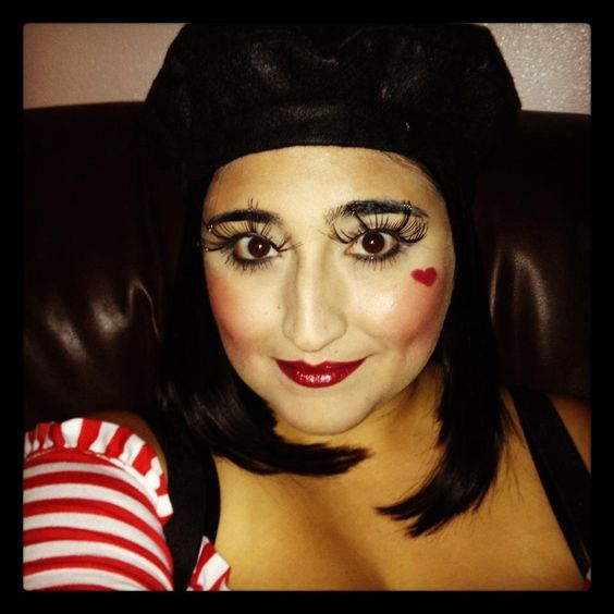 Cute Mime Makeup French mime-cut...