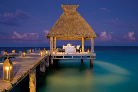 Private dining on the pier at Zoetry Paraiso de la Bonita in Puerto Morelos, Mexico #YourDreamDay