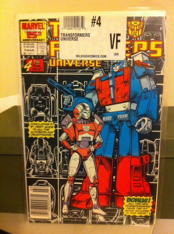 The Transformers Universe #4 (Mar 1987, Marvel) VF condition