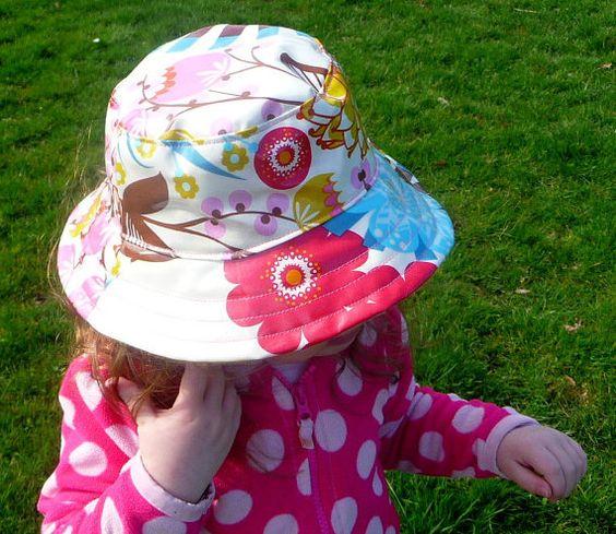 Laminated Cotton Child's Rain Hat by emmaroodesigns on Etsy, $40.00