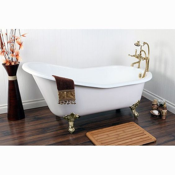Kingston Brass Aqua Eden Soaking Bathtub & Reviews | Wayfair
