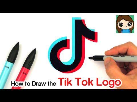 How To Draw The Tik Tok Logo Youtube Logo Tutorial Logos Tik Tok