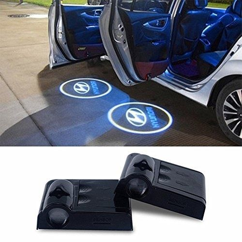 2pcs Wireless Car Led Door Logo Projector Ghost Shadow Laser Lights For Hyundai Car Led Car Accessories For Guys Smart Car Accessories