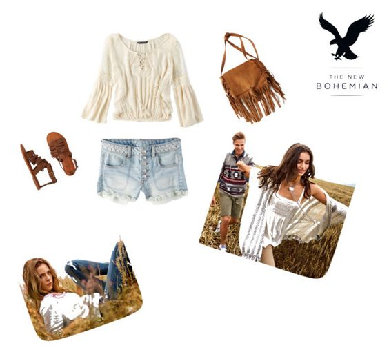 """""""The New Bohemian with American Eagle Outfitters: Contest Entry"""" by lucyanderson-692 ❤ liked on Polyvore featuring American Eagle Outfitters and aeostyle"""