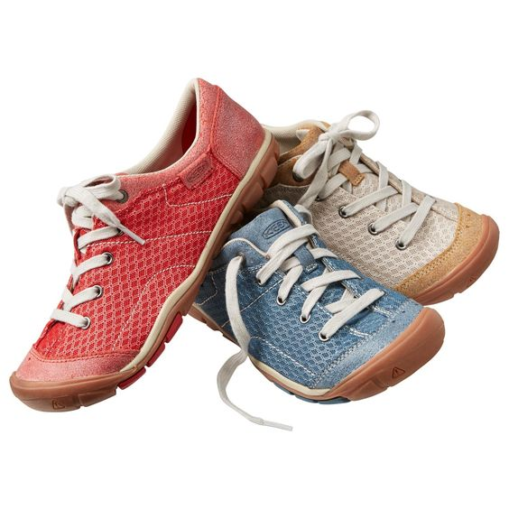 Tie on a pair of lightweight, supportive women's Keen Mercer Lace Up Shoes and enjoy a soft landing for every step. Leather and mesh upper look and feel fresh. From Duluth Trading Company.