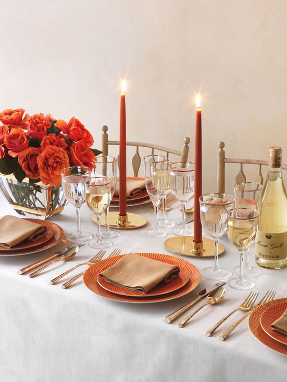 Tablescapes: Pieces Tablesettings, Autumn Tabletop, Gorgeous Tablescapes, Festive Tablescape, Hot Tabletop, Tablescape Art, Beautiful Table Settings, Tablescapes Settings, Table Setting Center