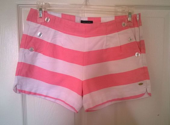 Girl's Tommy Hilfiger Striped Shorts Pink/White Size 14 ...