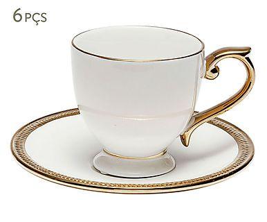 Jogo de Xícaras para Café com Pires Paddy - 50ml