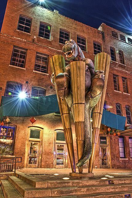 Dino Hdr Downtown Dallas Amarillo Texas Texas Places West End Dallas