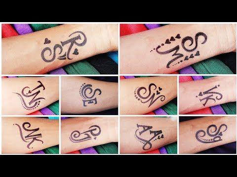 Pin On Tattoo Alphabet Mehndi