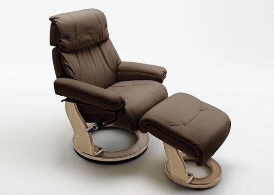 Relaxsessel Winnipeggy Echt Leder Braun 5810. Buy now at https://www.moebel-wohnbar.de/relaxsessel-winnipeggy-fernsehsessel-mit-hocker-echleder-braun-5810.html