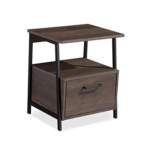 Sekey Home End Table Nightstand Accent Table With Storage Shelf And Drawer Sturdy And Easy Assembly Furniture Contemporary Home Office Home Office Chairs