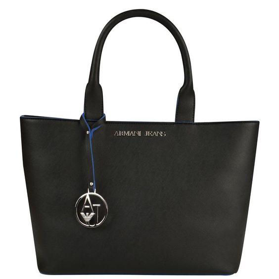 ARMANI JEANS Saffiano Shopper Bag