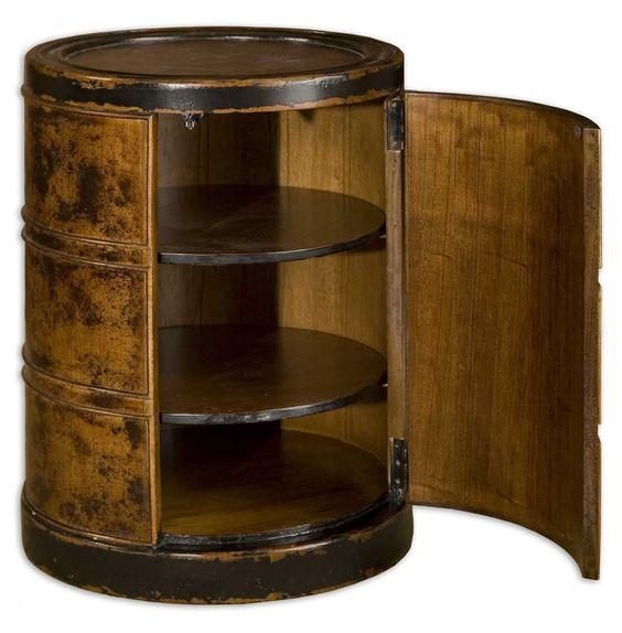 Lawton Storage Drum Table