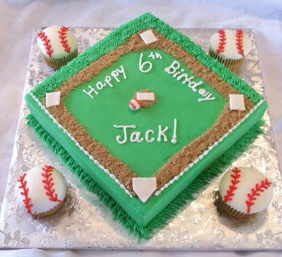 baseball cake ideas | Baseball field