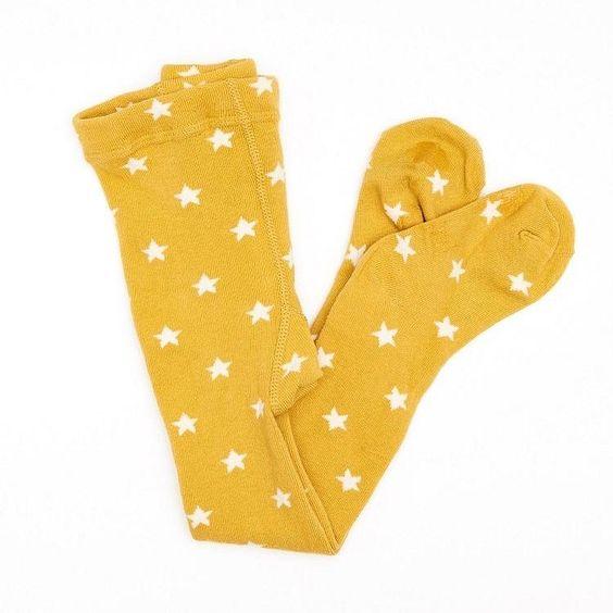 Mini Dressing Strumpfhose Stern, Gelb