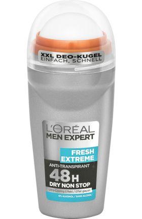 Der Men Expert Deo Roll-on Fresh Extreme schützt 48 Stunden lang intensiv vor unangenehmem Körpergeruch und enthält dabei keinen Alkohol. Die extra große...