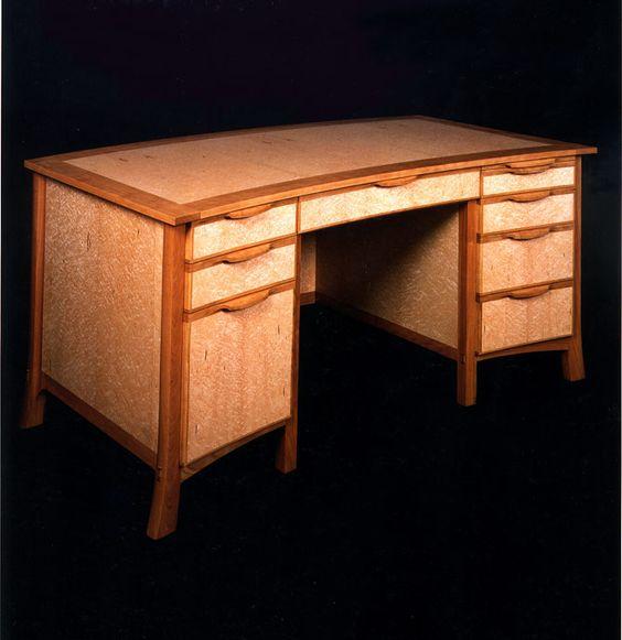 Executive Desk 30?w x 60?l x 30?h birdseye maple, cherry This