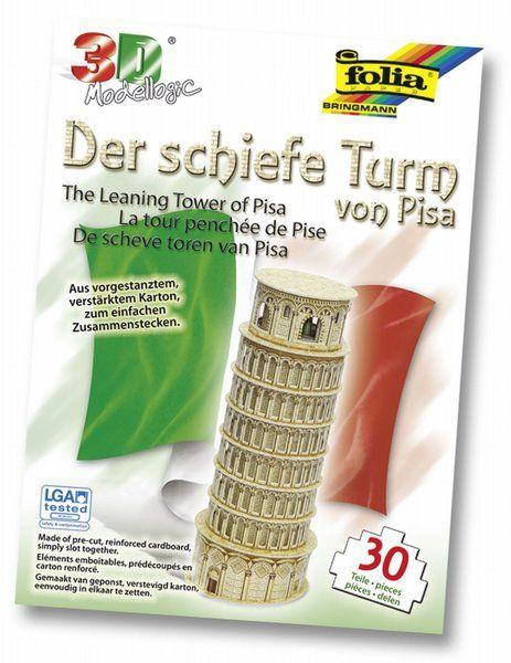 3D-Modellogic, 30 Teile, Schiefer Turm von Pisa von A -Z Bastelshop auf DaWanda.com