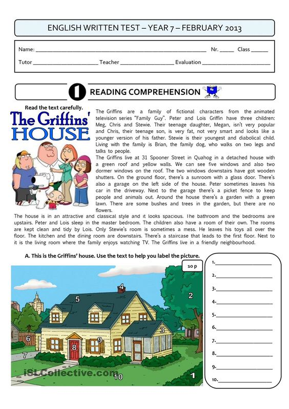 THE GRIFFINS HOUSE - a 4page test:
