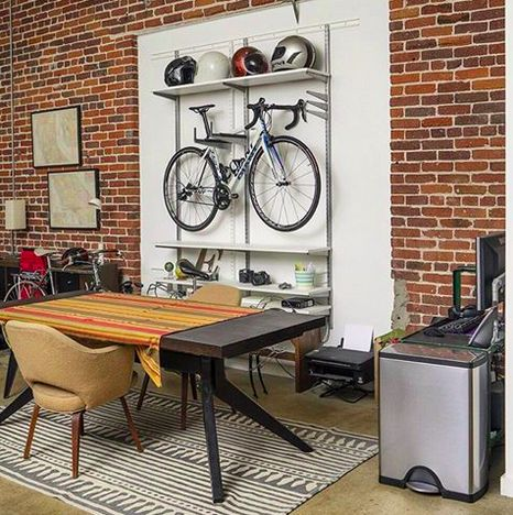 This #DTLA loft combines our love for bikes with our rectangular step can. #efficientliving #mysimplehuman
