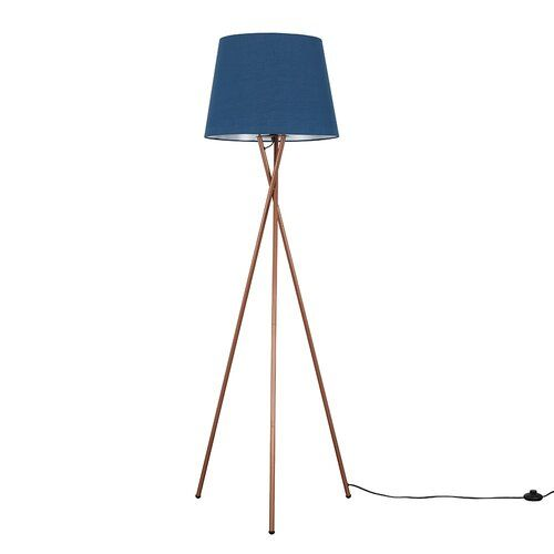 Anan 162cm Tripod Floor Lamp 17 Stories Shade Colour Navy Blue