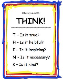 """FREE download """"Before you Speak, THINK"""" Poster"""