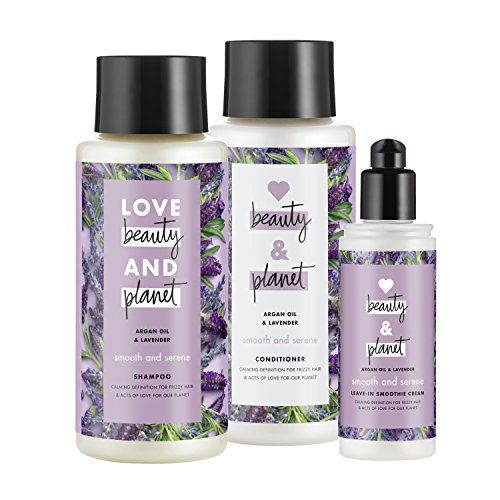 Love Beauty And Planet Smooth And Serene Shampoo Conditioner And Leave In Smoothie Cream Argan Oil Lav Beauty Planet Korean Beauty Secrets Diy Beauty Secrets