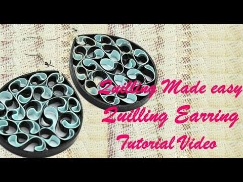 DIY Craft Ideas-How to make Beautiful Quilling Earring Black New design -Paper Art Quilling