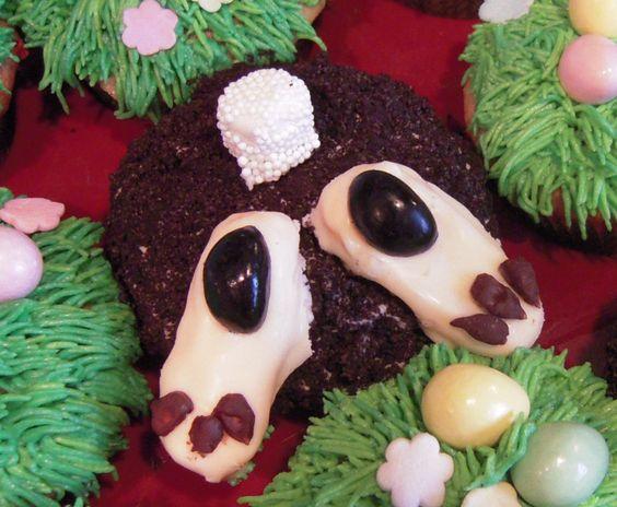 Bunny Bottom Cupcakes!: